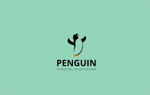 psd design penguin logo