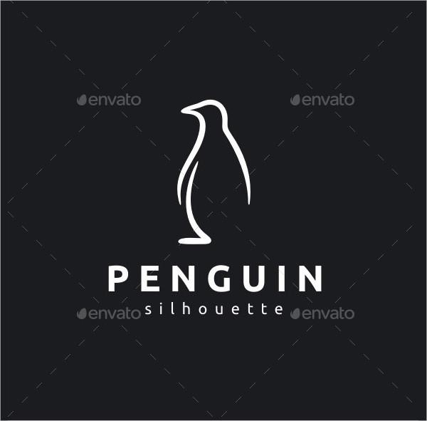 Silhouette Penguin Logo