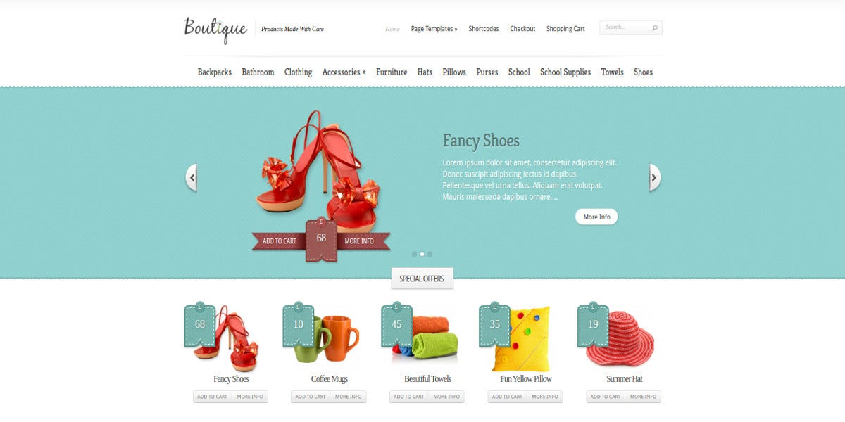 boutique shopping cart wordpress theme