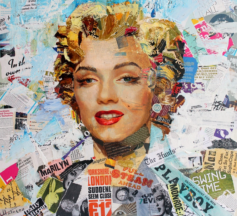 marylin collage canvas