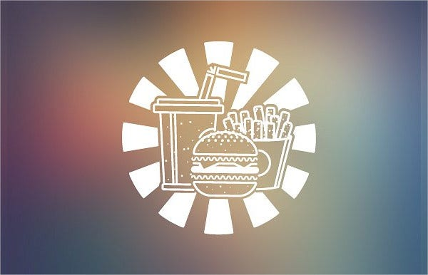 burger fast food logo template