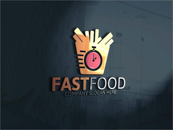 Company Fast Food Logo Template