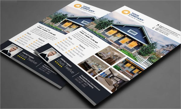 business real estate flyer template