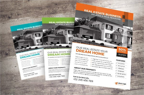 double sided real estate flyer