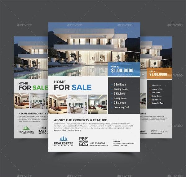 promotional real estate flyer