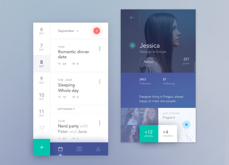 social meadia mobile calendar free