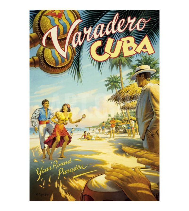 vintage art travel poster