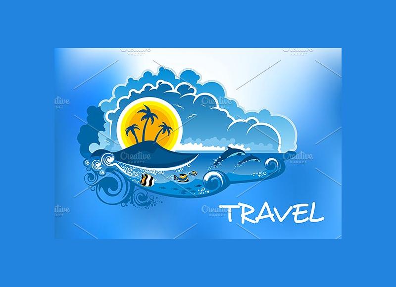 vector summer travel poster