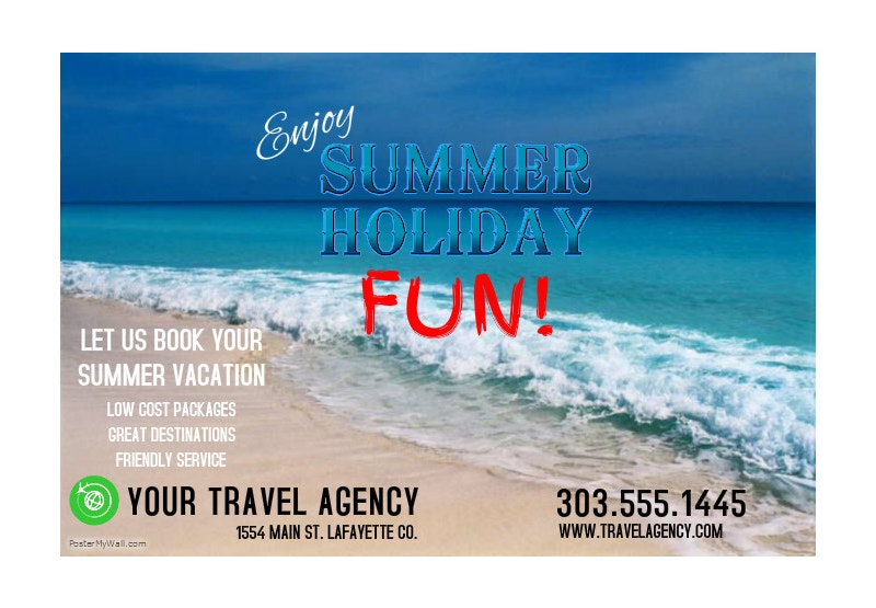 summer vacation traveling poster