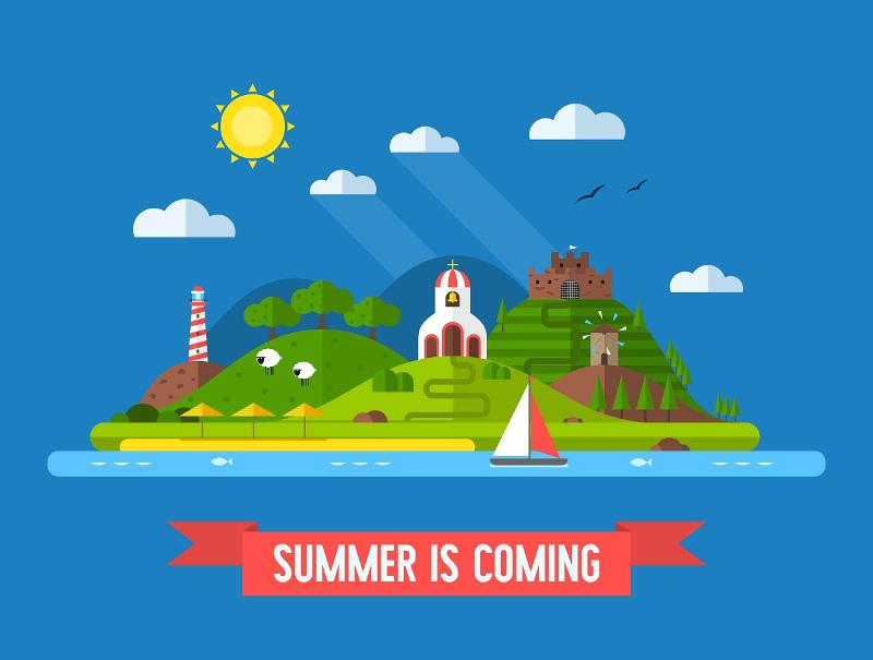 Island Travel Landscape Poster