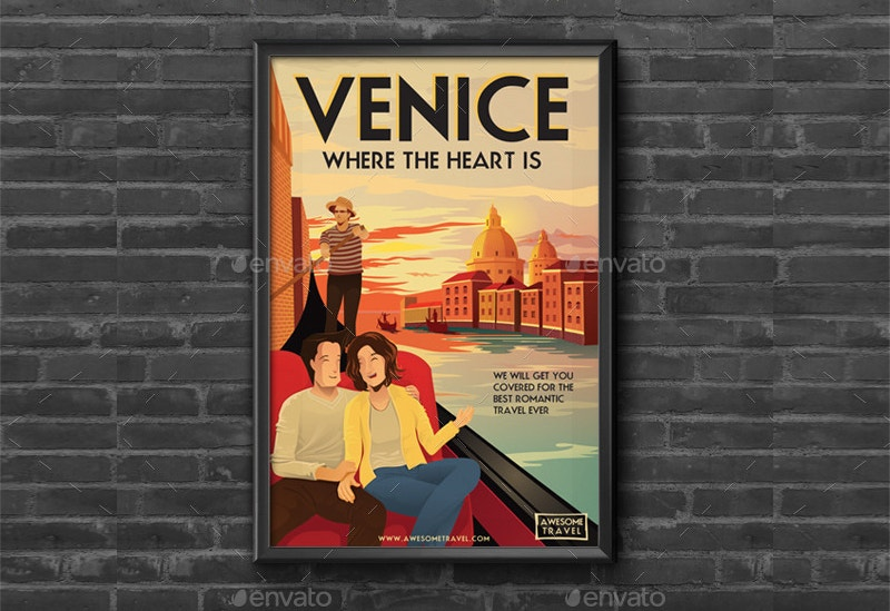 illustrated travel poster