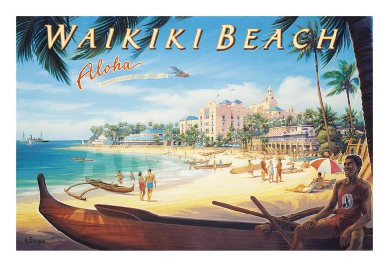 beach wall poster design