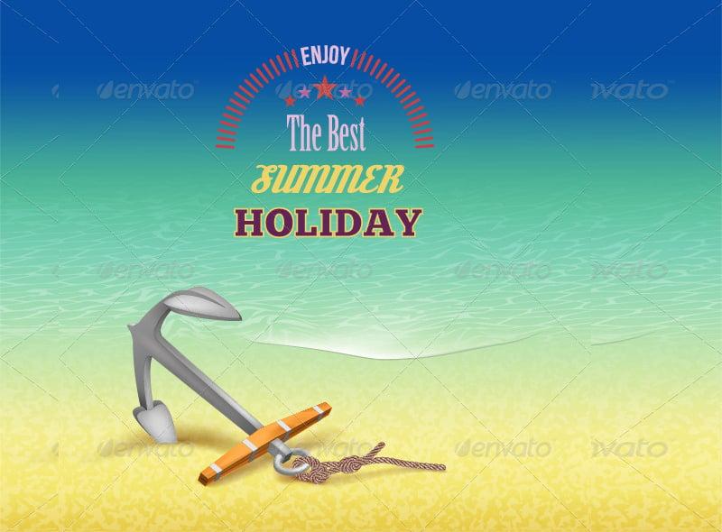 beach travel poster design