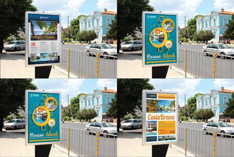 3 travel holiday poster bundle
