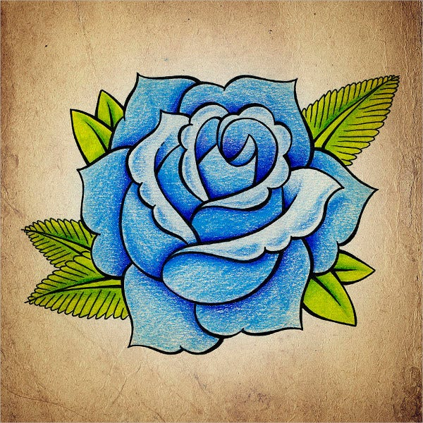 Blue Rose Drawing