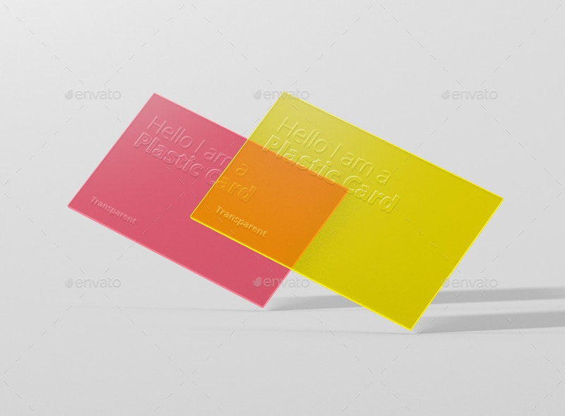 transparent business card mock up