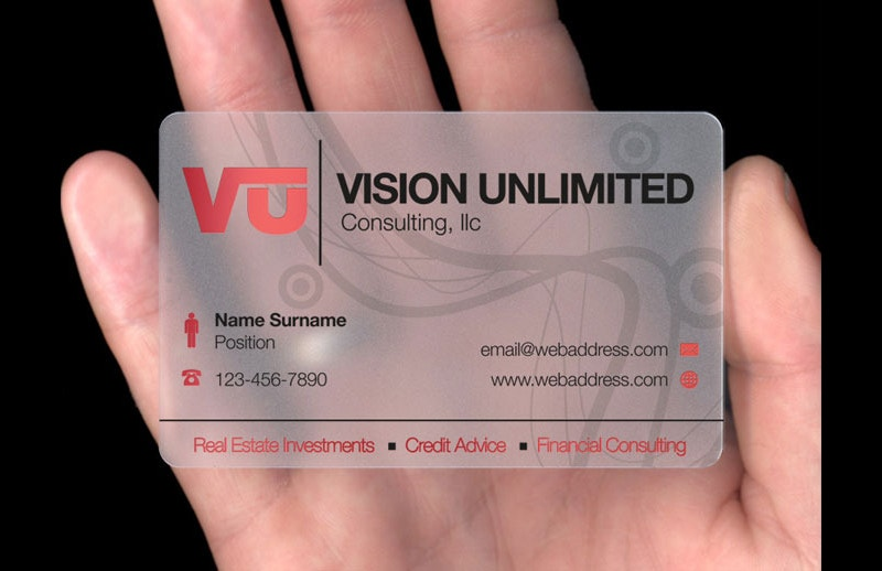 Translucent Plastic Card