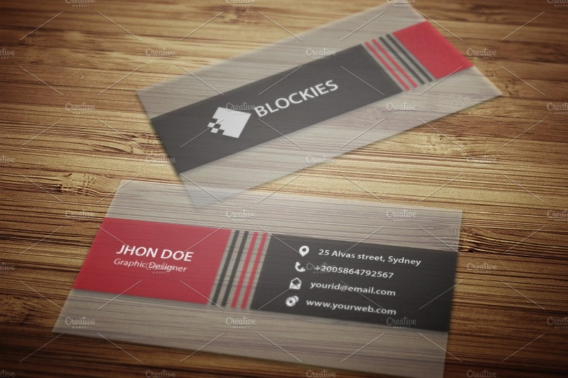 Semi Transparent Business Card