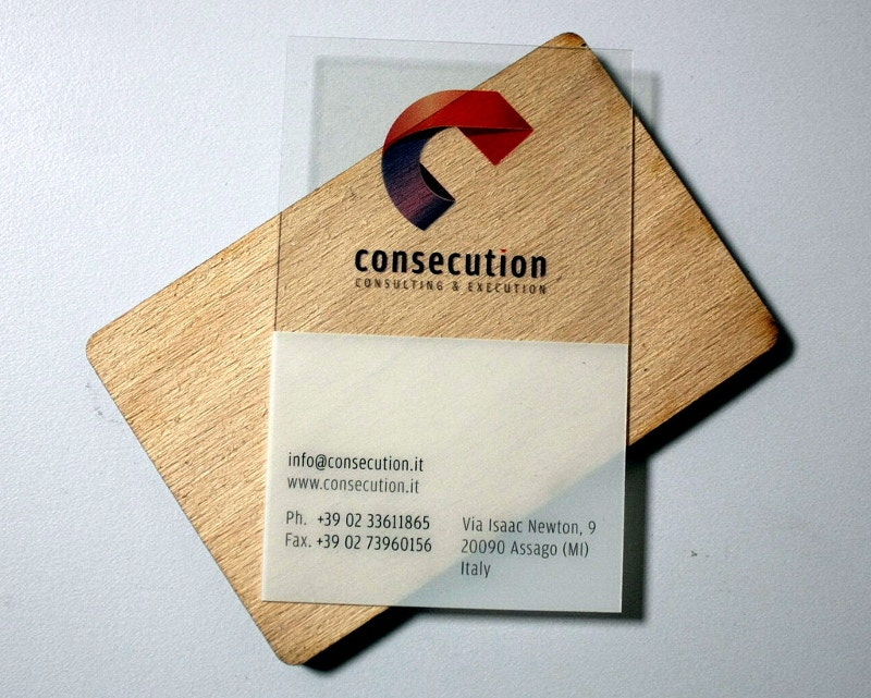 Printed Transparent Business Card