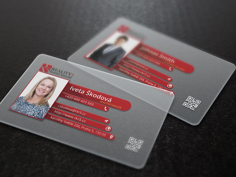 24 transparent business cards free premium templates modern transparent business card colourmoves