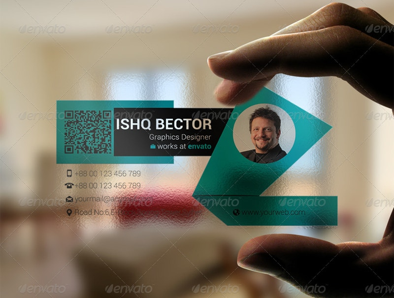 Green Transparent Business Card