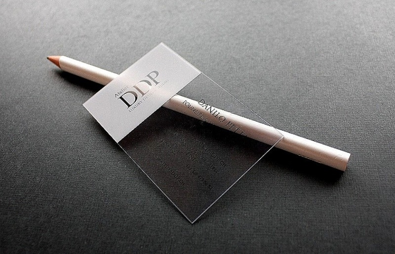Clear PVC Business Card