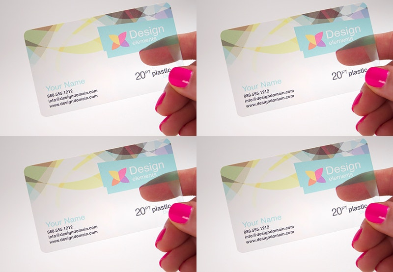 clear plastic transparent card