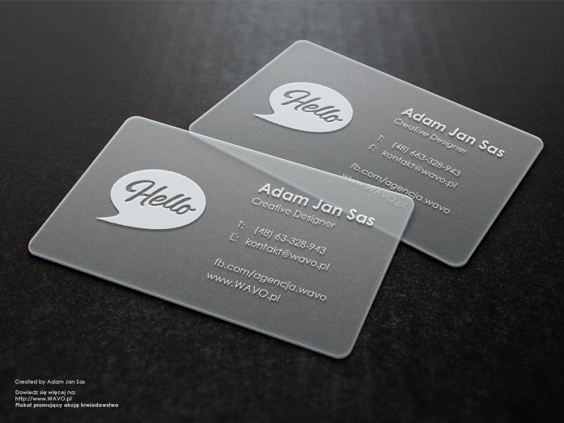 Branding Transparent Business Card