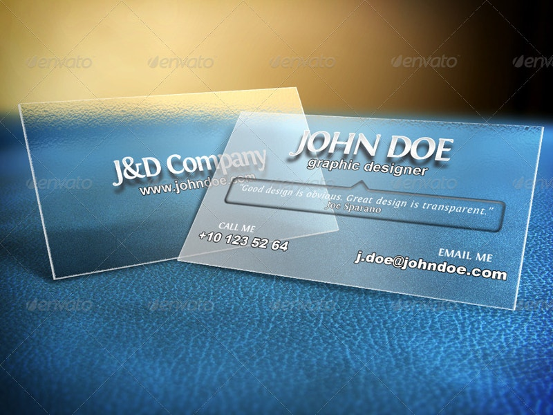 transluscent business cards