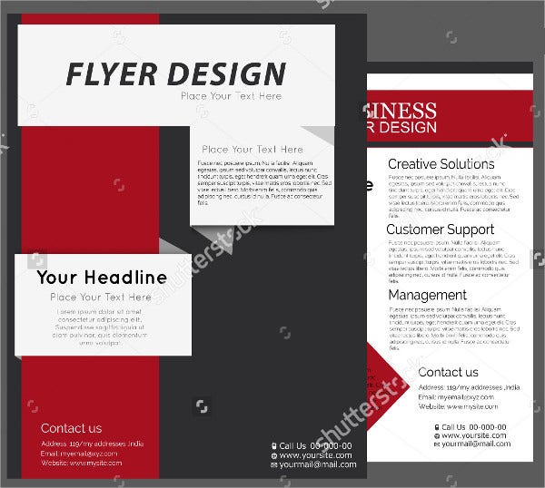 flat design flyer template