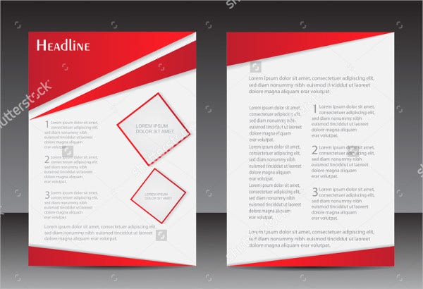 vector design flyer template