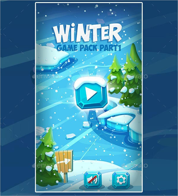 Christmas-Winter-Frozen-Game Template Application Android Free on android home icon, android interface, android master-detail flow,