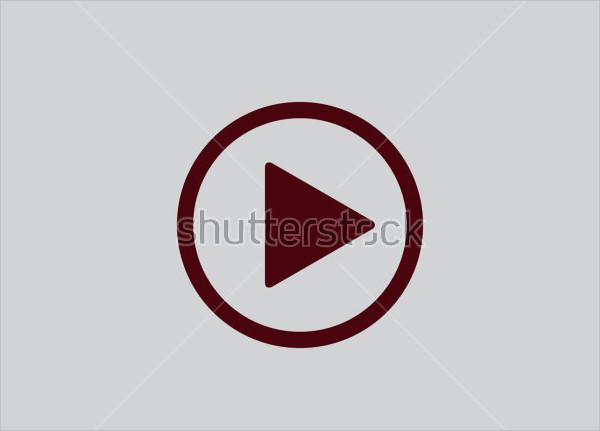 flat design play button