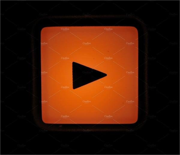 macro shot play button icon