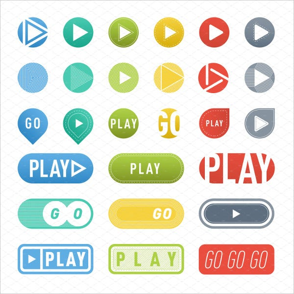 UI Interface Play Button