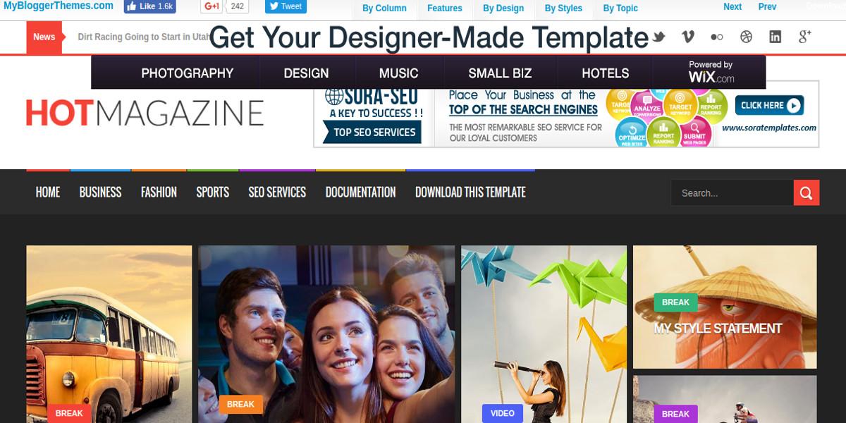 free newspaper magazine blogger theme