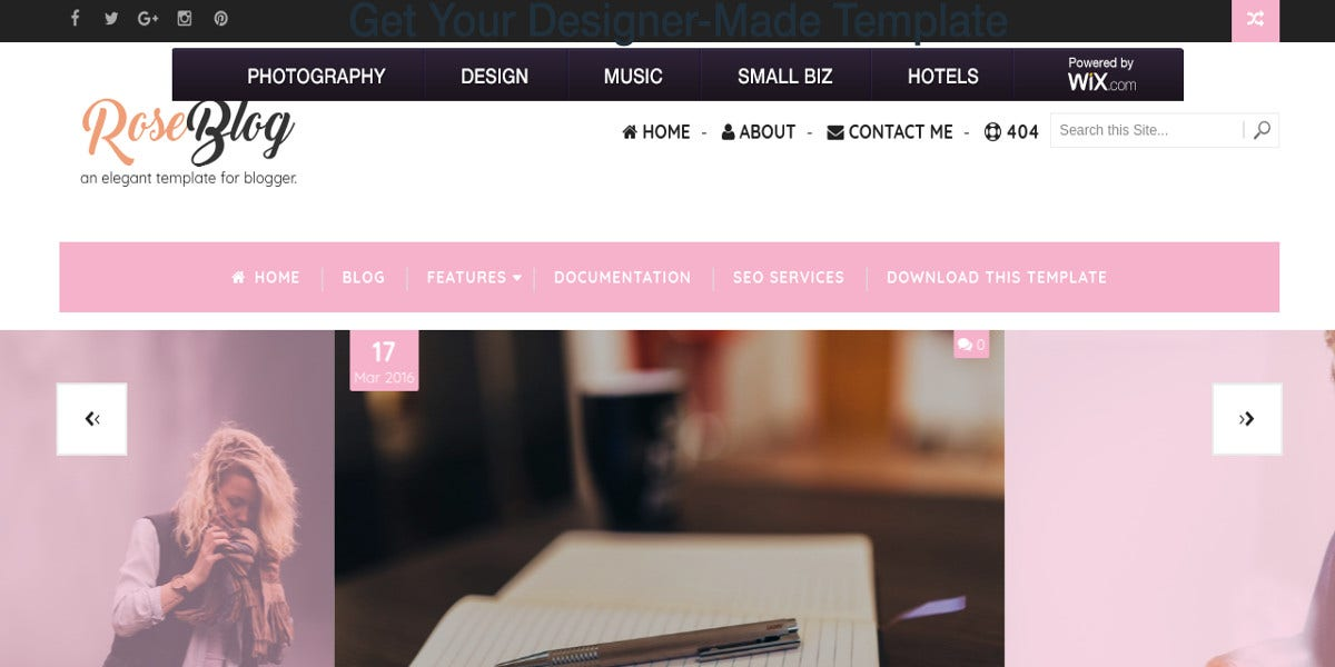 free fashion lifestyle blogger template1