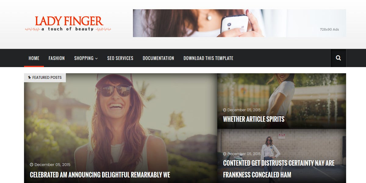 free responsive blogger template for fashion photography