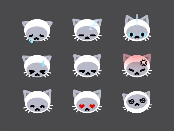 animate cat emoji emoticons