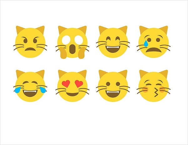 Emoticon Cat Emoji Set