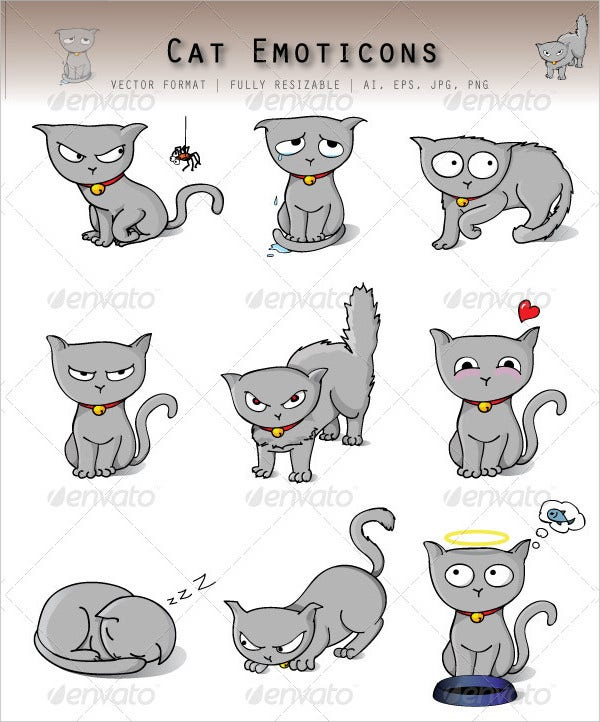 funny cat emoticons