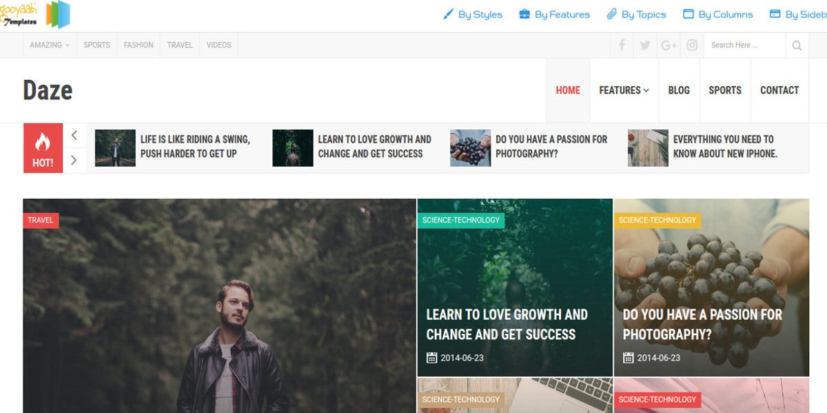 free multipurpose blog template1