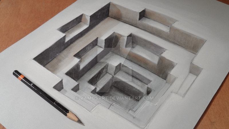 image regarding Anamorphic Illusions Printable known as 22+ Inspiring Anamorphic Illusion Drawings Totally free High quality