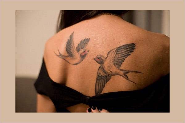 Two Swallows Tattoo