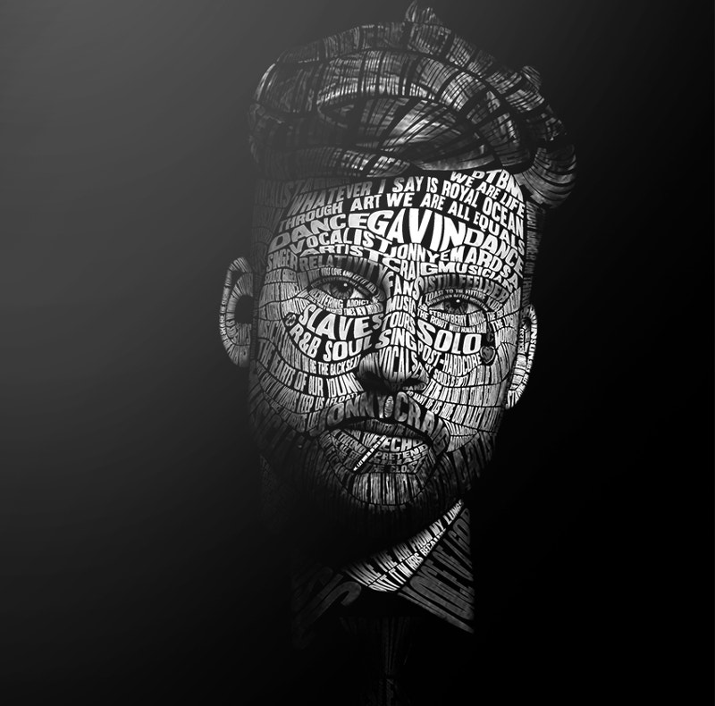 typography portrait of jonny craig
