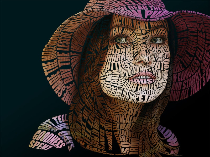 colorful typographic portrait