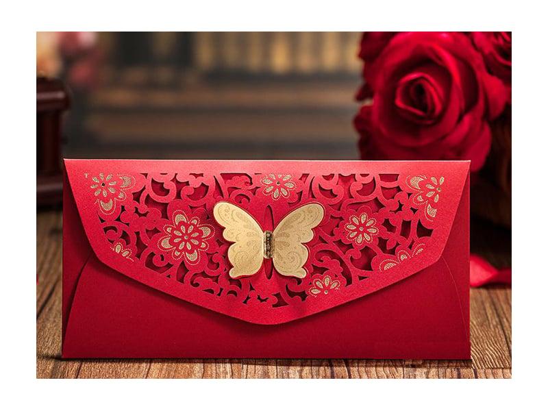 red color envelope design