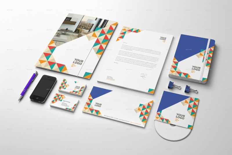 Colorful Stationery Envelope Design