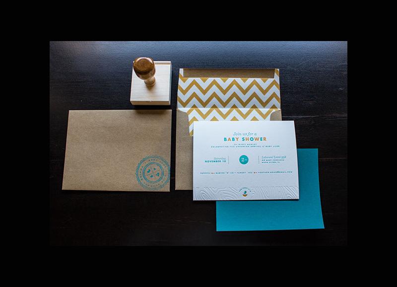 baby shower invitation envelope