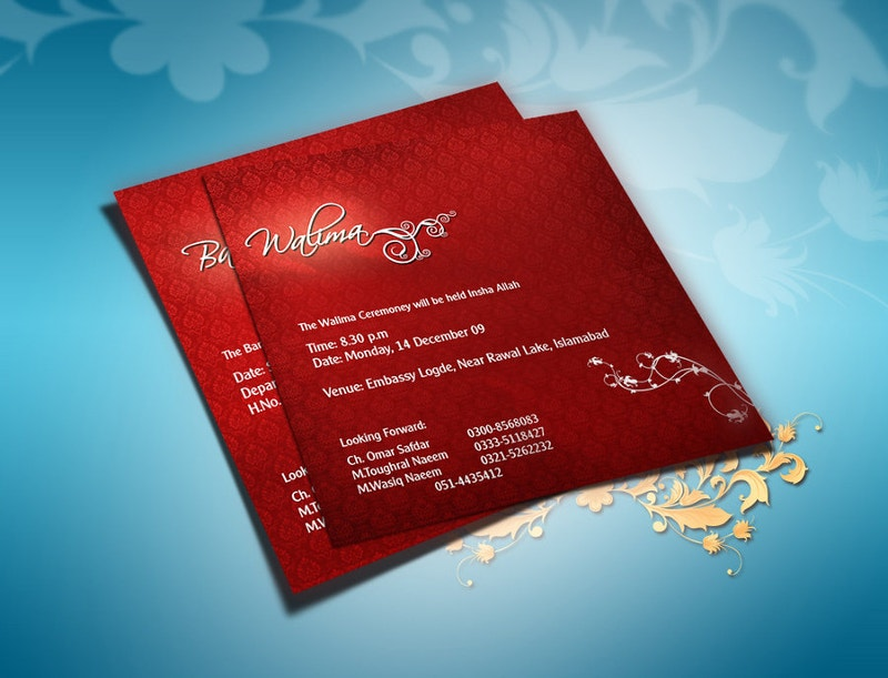 Stylish Wedding Invitation